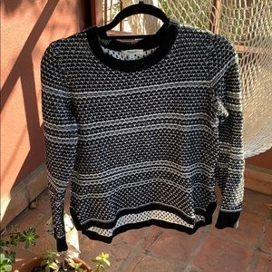 Madewell Black and White Pattern Sweater
